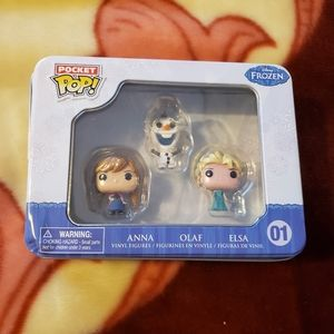 Disney Frozen Pocket POP W/ Anna Olaf and Elsa